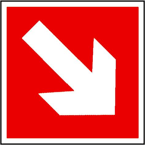 EverGlow Richtungsangabe aufwärts/abwärts 20,0 x 20,0  cm
