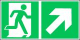 EverGlow Folie Rettungsweg rechts aufwärts 30,0 x 15,0 cm