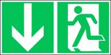 EverGlow Notausgang ISO7010 - 30,0 x 15,0 cm