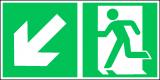 EverGlow Rettungsweg li abw. ISO7010 - 30,0 x 15,0 cm