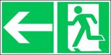EverGlow Rettungsweg links ISO7010 - 30,0 x 15,0 cm