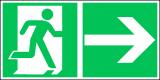 EverGlow Folie Rettungsweg rechts 30,0 x 15,0 cm