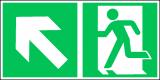 EverGlow Folie Rettungsweg links aufwärts 30,0 x 15,0 cm