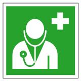 EverGlow Arzt ISO7010 20,0 x 20,0  cm
