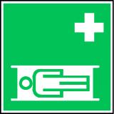 EverGlow Krankentrage ISO7010 20,0 x 20,0  cm