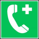 EverGlow Notruftelefon ISO7010 20,0 x 20,0  cm