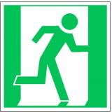 EverGlow Rettungsweg / Notausgang rechts ISO7010 20,0 x 20,0  cm