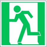 EverGlow Rettungsweg / Notausgang links ISO7010 20,0 x 20,0  cm