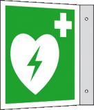 EverGlow Defibrillator (AED) Fahne 20,0 x 20,0  cm