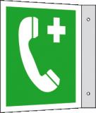 EverGlow Notruftelefon Fahne 20,0 x 20,0  cm