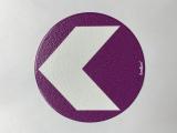 Bodenmarkierung/Ronde lila - 12,5 cm