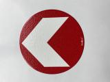 Bodenmarkierung/Ronde rot - 12,5 cm